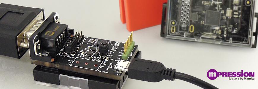 SensorTag向けUART to RS232C変換ボードDEVPACKM-RS232-IIの画像