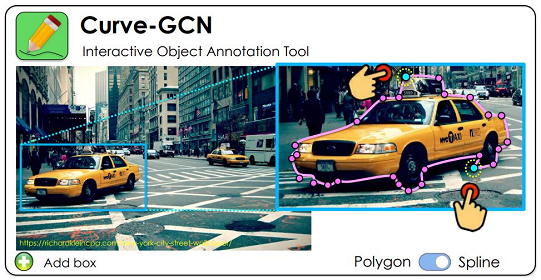 Fast Interactive Object Annotation with Curve-GCN
